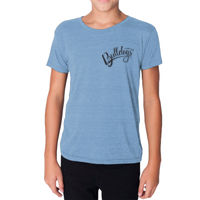 YOUTH - SHORT SLEEVE - TRI-BLEND TSHIRT -  (C-DMD-BK) Thumbnail