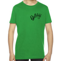 YOUTH - SHORT  SLEEVE  - FINE JERSEY T SHIRT -  (C-DMD-BK) Thumbnail
